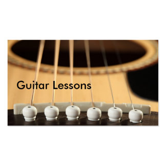 Business Card: Guitar Lessons Business Card