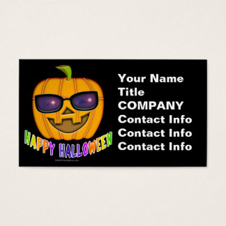 Business Card - Halloween Jack O Lantern Pumpkin