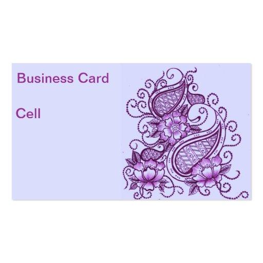 Mehndi Business Card Business Card Templates Bizcardstudio