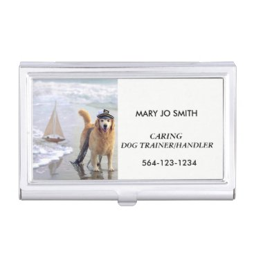 Professional Business BUSINESS CARD HOLDER CARING DOG TRAINER