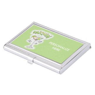 BUSINESS CARD HOLDER, DAIQUIRI RECIPE COCKTAIL ART BUSINESS CARD CASE
