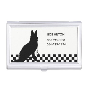 Professional Business BUSINESS CARD HOLDER DOG TRAINER/white CARD