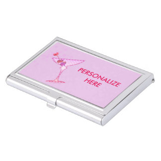 BUSINESS CARD HOLDER - PINK MARTINI