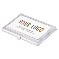 Business Card Holder Silver Metal Case Custom Logo