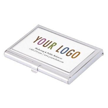 Professional Business Business Card Holder Silver Metal Case Custom Logo