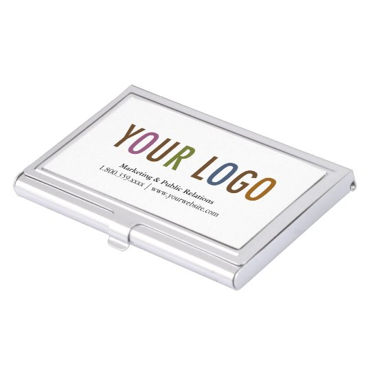 business card holder silver metal case custom logo - Metal Business Card Case