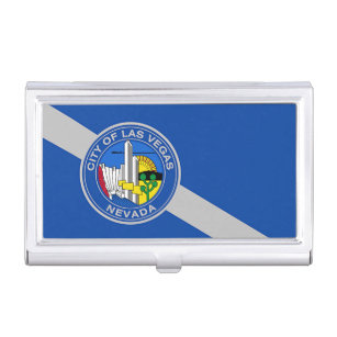 World city business card holders cases zazzle business card holder with flag of las vegas reheart Images