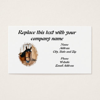Business Card, Horse looking over a door Business Card