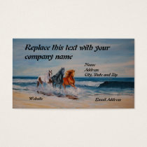 Business Card, Horses in the Surf Business Card