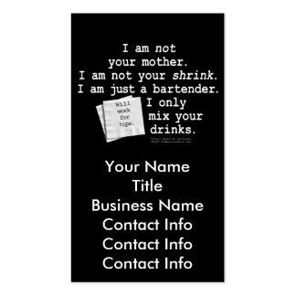 Business Card - I M A BARTENDER