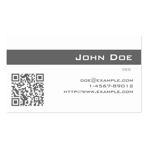 Business Card Imperial Gray