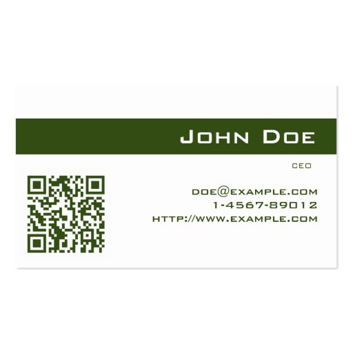 Business Card Imperial Green