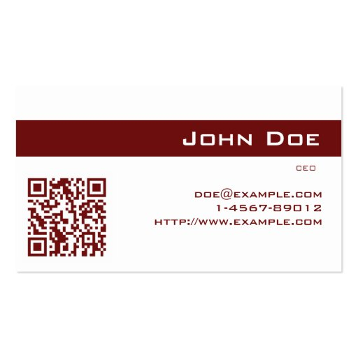 Business Card Imperial Red