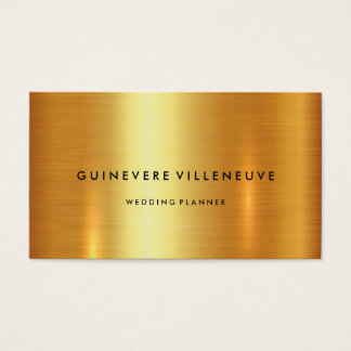 Business card in luxury faux gold customizable