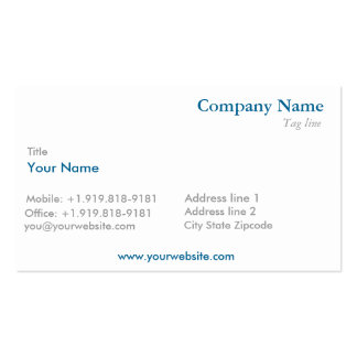 Business card in two colors - Simple and elegant