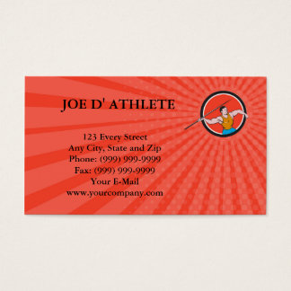 Business card Javelin Throw Track and Field Circle