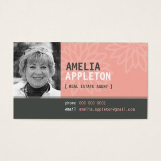 BUSINESS CARD :: jazzy photo coral pink