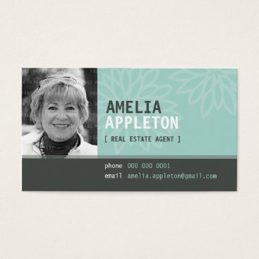 Professional Business BUSINESS CARD :: jazzy photo mint green