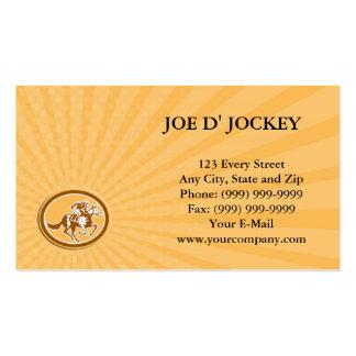 Business card Jockey Horse Racing Oval Retro