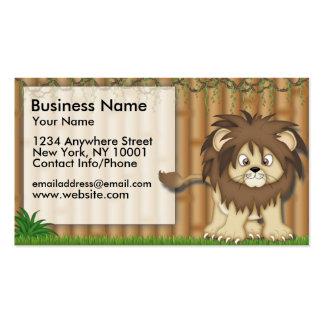 Business Card Jungle Fun Cute Lion