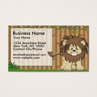 Business Card Jungle Fun Cute Lion