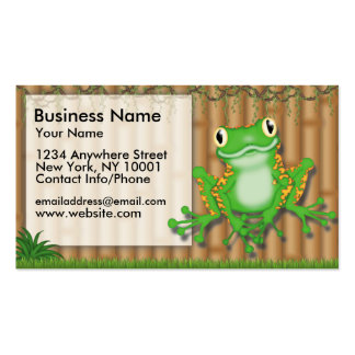 Business Card Jungle Fun Green Frog