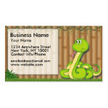 Business Card Jungle Fun Green Snake