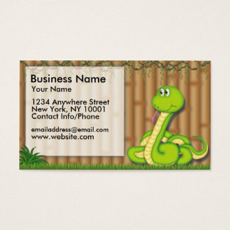 Business Card Jungle Fun Green Snake