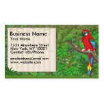 Business Card Jungle Fun Red Parrot