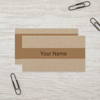Business Card - Kraft - Personalized