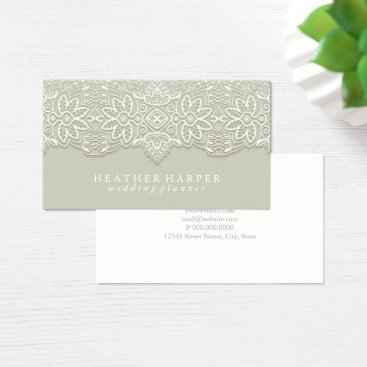 Professional Business Business Card - Laced Grey