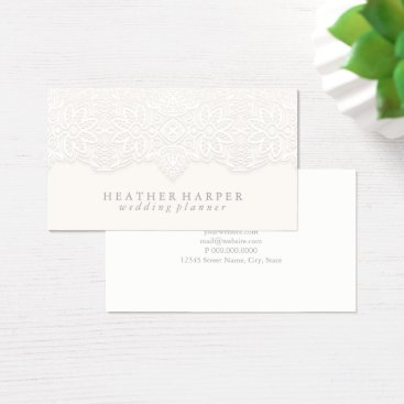 Professional Business Business Card - Laced White