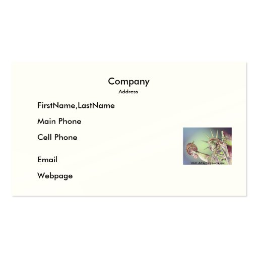 Business Card / Lady Liberty