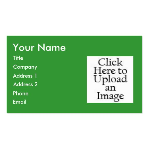 Business Card Layout ... Green