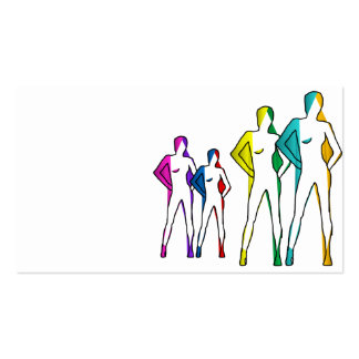 business card lgbt love rainbow fashion casting