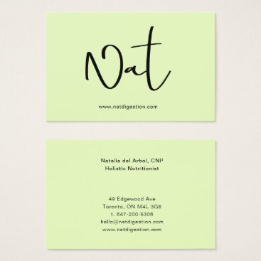 Professional Business Business card Lime