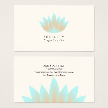 Professional Business Business Card - Lotus Pastel
