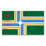 Business Card Magnet with Flag of Portland, USA