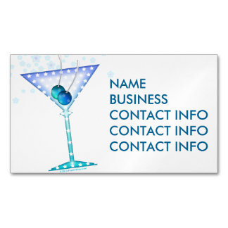 BUSINESS CARD MAGNETS - BLUE MARTINI