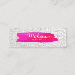 Iridescent business cards templates zazzle business card makeup brushstroke iridescent colourmoves
