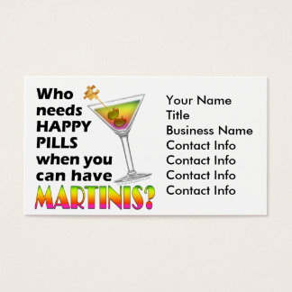 Business Card - Martinis v. Happy Pills
