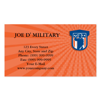 Business card Miilitary Serviceman Salute Side Cre