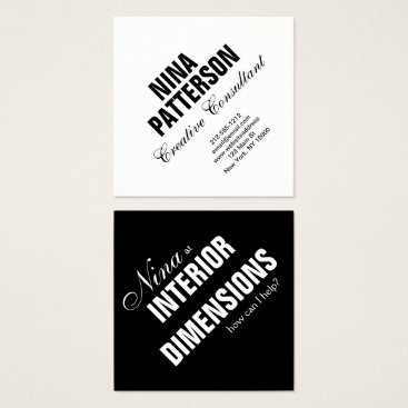 Professional Business Business Card Minimalist Custom Template Black