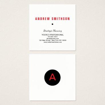 Professional Business Business Card Minimalist Custom Template Monogram