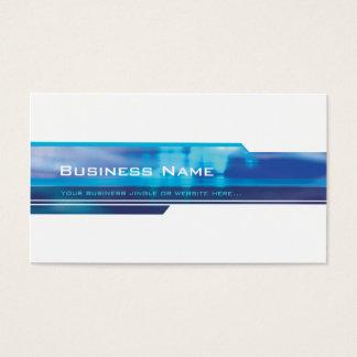 BUSINESS CARD modern futuristic trendy navy aqua