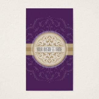 BUSINESS CARD modern oriental mandala purple gold
