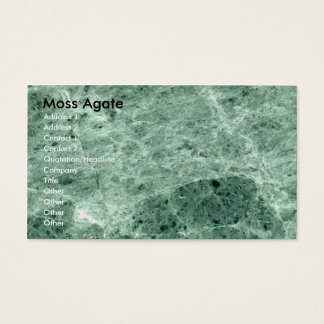 Business Card Moss Agate