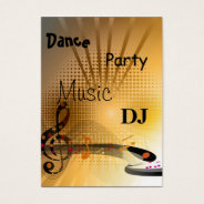 Business Card Music Dj Dance Party at Zazzle