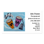Business Card: Musician, Drummer, Percussionist Double-Sided Standard Business Cards (Pack Of 100)