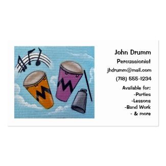 Business Card: Musician, Drummer, Percussionist